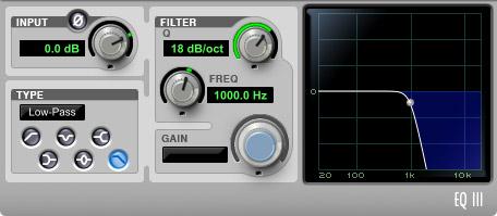 Filter 18 dB/octave