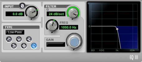 Filter 24 dB/octave