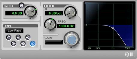Filter 6 dB/octave
