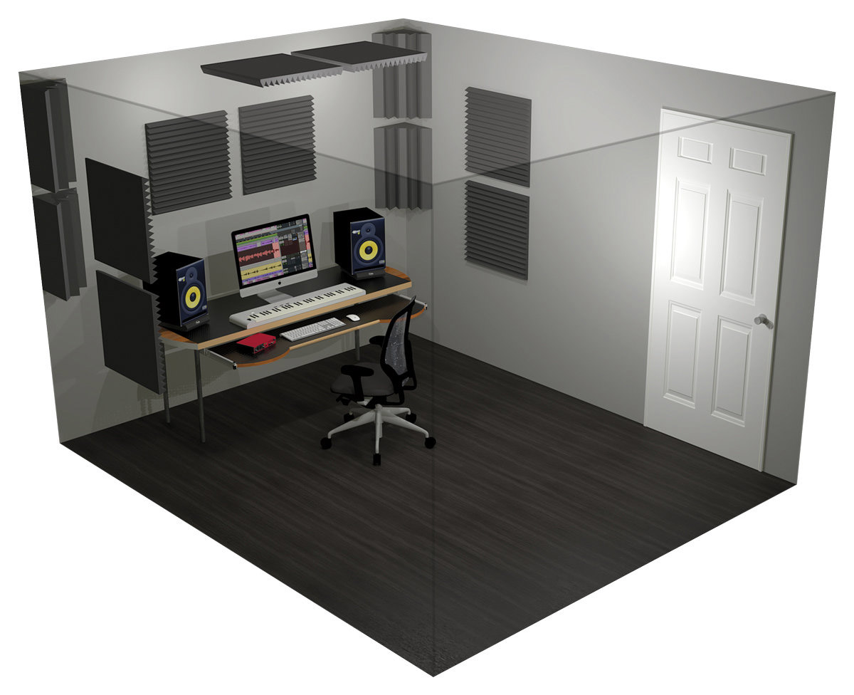 What can we learn about room acoustics from this image?