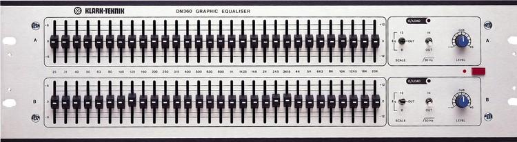Klark Teknik DN360 2-channel graphic equalizer