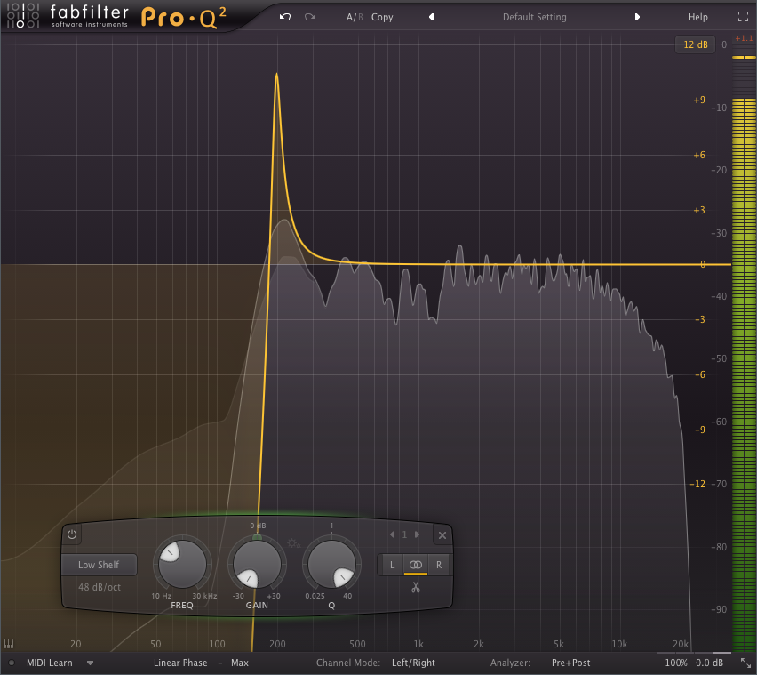 FabFilter Pro Q 2 linear phase