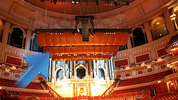 Acoustic reflector at the Royal Albert Hall