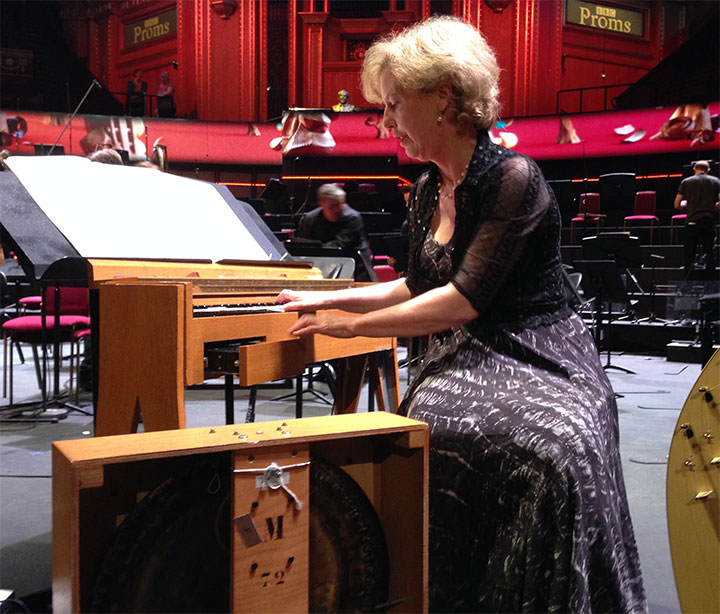Cynthia Millar with the ondes Martenot