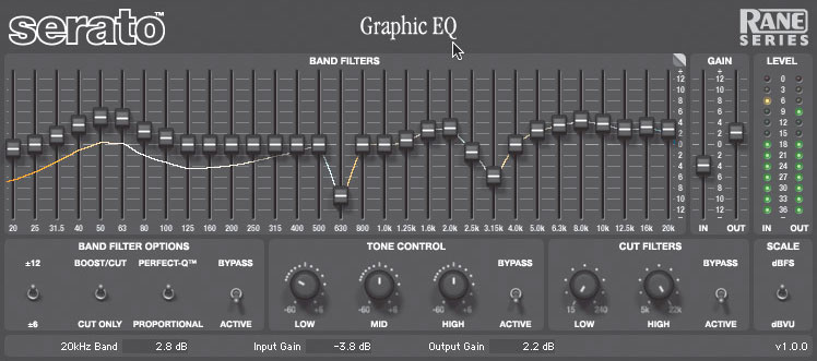 Serato graphic EQ plug-in