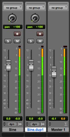 Master minus 6 dB