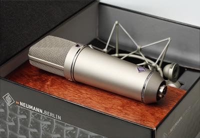 Neumann U87 large diaphragm capacitor microphone