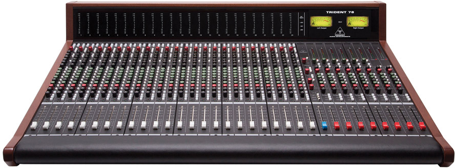 Trident 78 analog mixing console